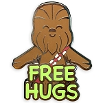 Disney Pin by Her Universe - Star Wars - Chewbacca - Free Hugs