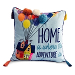 Disney Throw Pillow - Pixar - Up House - Home Is Where The Adventure Is