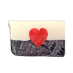 Disney Basin Soap - Red Heart in Black and White Base