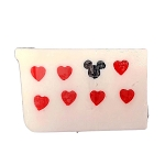 Disney Basin Soap - Red Hearts and Mickey Icon in White