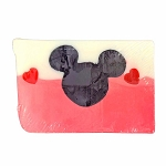 Disney Basin Soap - Large Mickey Icon in Pink and White