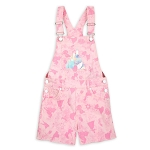 Disney Girls Overall Shorts - Disney Princess