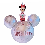 Disney Mickey Ears Icon Ornament - Minnie Mouse I'm on the Nice List