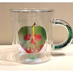 Disney Glass Mug w/ Confetti Handle - Snow White - Poison Apple - Just One Bite
