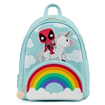 Marvel Loungefly Mini Backpack - Marvel Deadpool 30th Anniversary Unicorn Rainbow