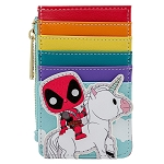 Marvel Loungefly Card Holder Wallet - Deadpool 30th Anniversary Rainbow Unicorn