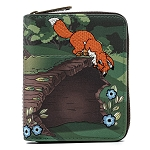 Disney Loungefly Wallet - Fox and Hound Todd and Copper Zip Around