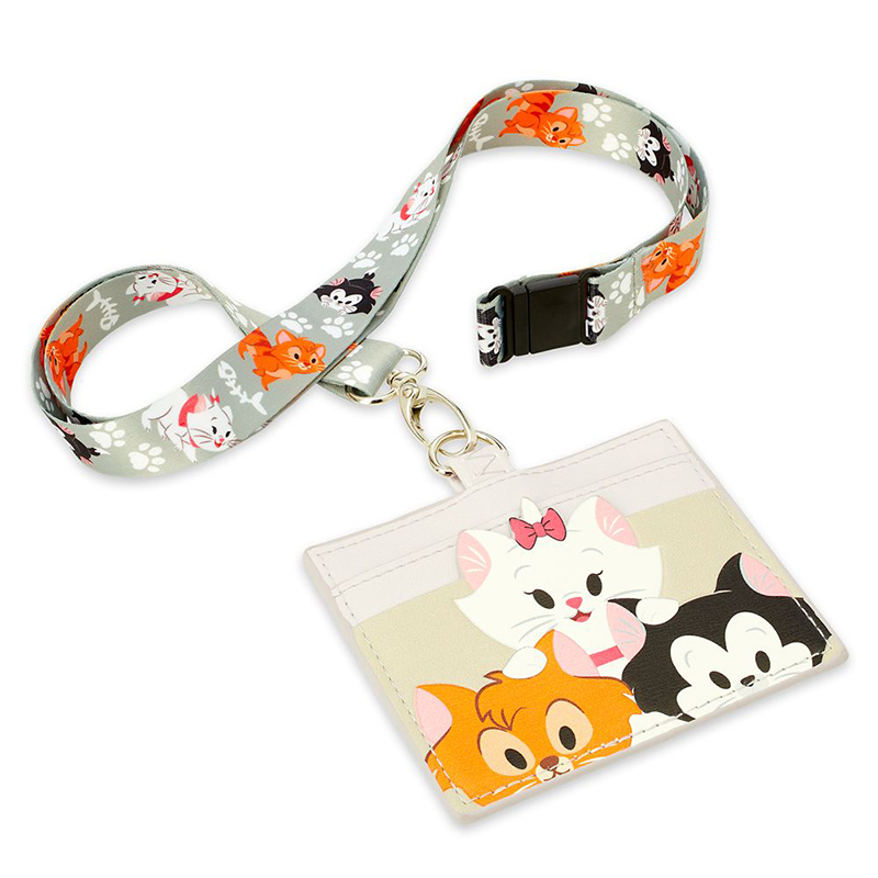 Disney Parks Loungefly Lanyard Card Holder - Reigning Cats and Dogs - Disney Cats