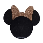 Disney Antenna Topper - Rose Gold Glitter Minnie Head with Bow