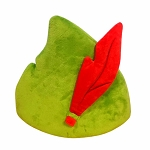 Disney Hat - Peter Pan Cap with Plush Feather