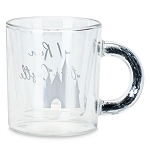 Disney Glass Mug w/ Confetti Handle - Cinderella Castle - I Run This Castle