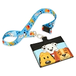Disney Parks Loungefly Lanyard Card Holder - Reigning Cats and Dogs - Disney Dogs