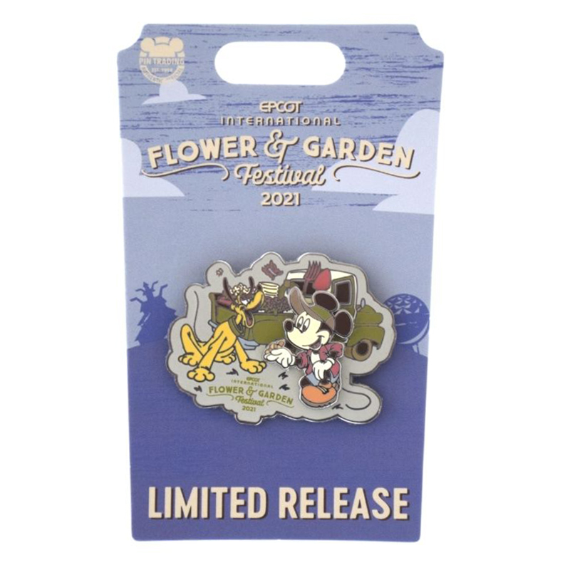 Disney Pin - Epcot Flower and Garden Festival 2021 - Mickey Mouse and Pluto - Limited Release