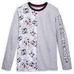 Disney Women's Long Sleeve T Shirt - Walt Disney World - Mickey and Minnie Mouse Newsprint