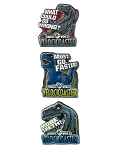Universal Studios Miniature Pin Set - Jurassic World - VelociCoaster