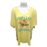 Disney Women's Shirt - Epcot Flower and Garden Festival 2021 - Orange Bird - Hello Sunshine