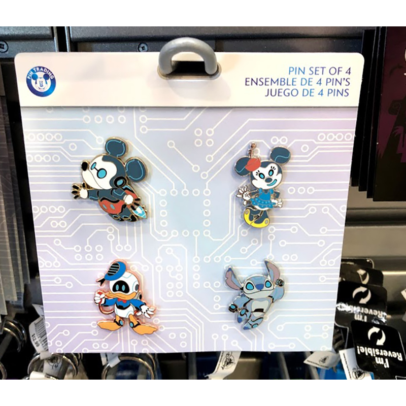 Disney Four Pin Booster Set - Cute Robot Characters