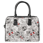 Disney Bag - Mickey and Minnie Mouse Newsprint - Satchel