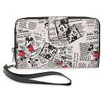 Disney Wallet - Mickey and Minnie Mouse Newsprint
