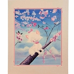 Disney Artist Print - Kent Hammerstrom - Marie Among the Cherry Blossoms