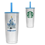Disney Stainless Steel Tumbler w/ Straw - Starbucks - Walt Disney World