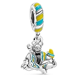 Disney Parks Pandora Dangle Charm - Mickey Mouse on Dumbo the Flying Elephant