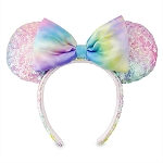 Disney Sequin Ear Headband - Minnie Mouse - Pastel Rainbow