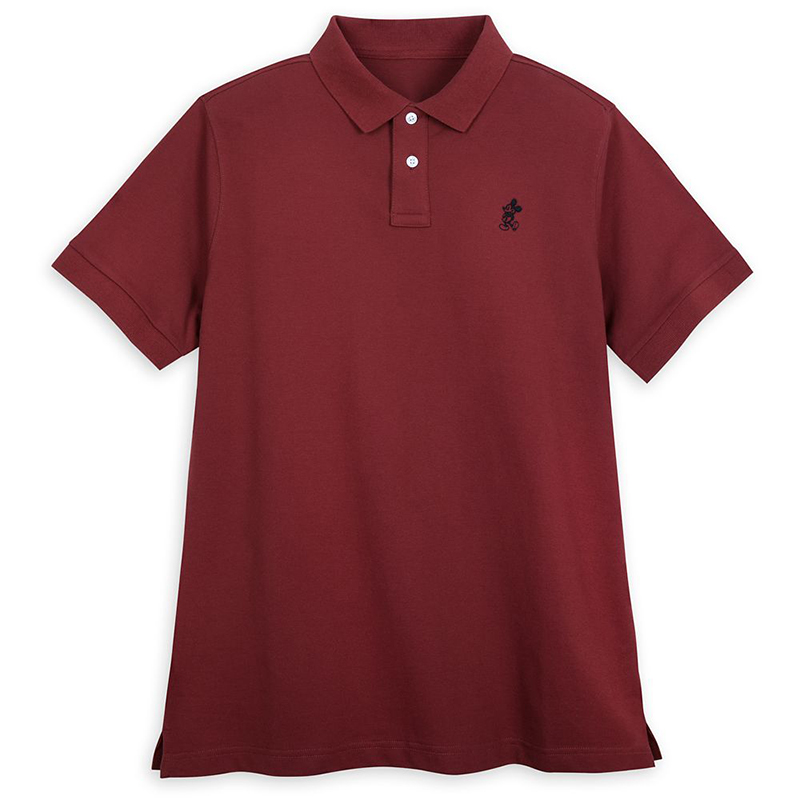 Disney Adult Shirt - Mickey Mouse Polo - Burgundy