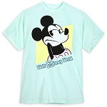 Disney Adult Shirt - Mickey Mouse Shrugging - Pastel