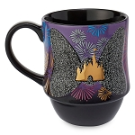 Disney Coffee Cup Mug - Minnie Main Attraction -  Nighttime Fireworks & Castle Finale