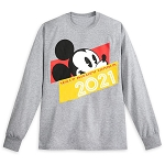 Disney Adult Long Sleeve Shirt - Walt Disney World 2021Logo - Mickey Mouse