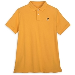 Disney Adult Shirt - Mickey Mouse Polo - Yellow