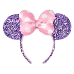 Disney Sequined Ear Headband - Minnie Mouse - Lavender and Pink