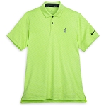 Disney Men's Shirt - Mickey Mouse Performance Polo by Nike - Green Stripe
