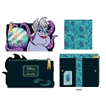 Disney Loungefly Flap Wallet - Disney Villains Scene - Ursula Crystal Ball