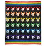 Disney Fleece Throw Blanket -  Rainbow Disney Collection - Mickey Mouse