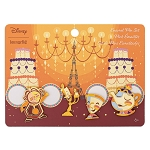 Disney Loungefly Four Pin Set - Beauty and the Beast Fixtures