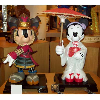 Your Wdw Store Disney Big Figure Statue Samurai Mickey And Minnie Mouse