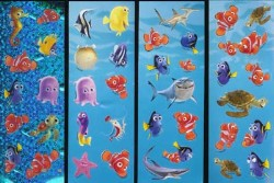 Disney Stickers 4 Strips - Finding Nemo Characters