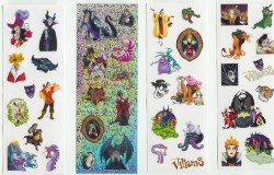 Disney Stickers 4 Strips - Disney Villains