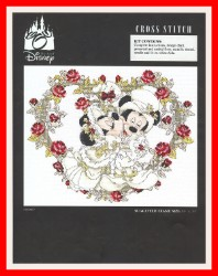 Disney Cross Stitch Kit - Mistletoe Kiss Victorian Wedding