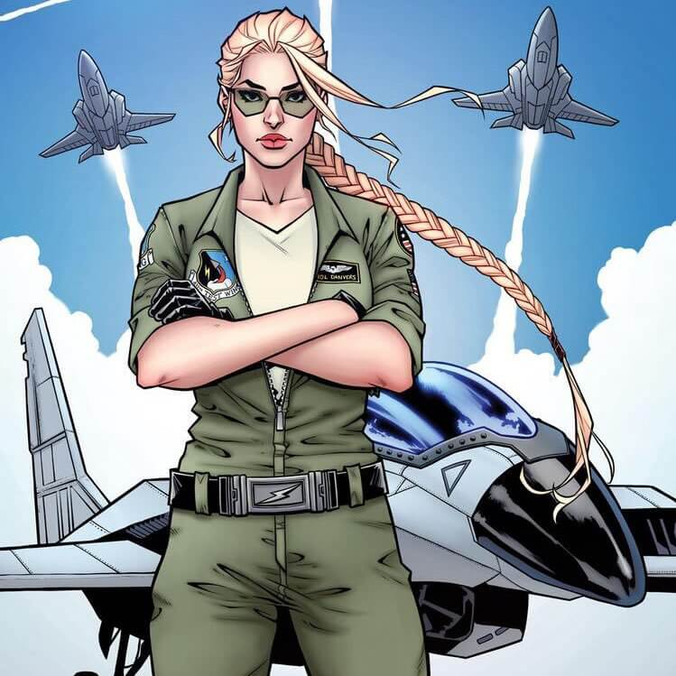 Carol Danvers, an Air Force pilot