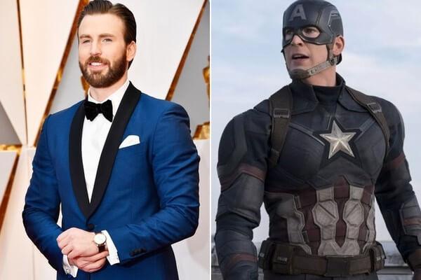 Chris Evans Captain America Steve Rodgers