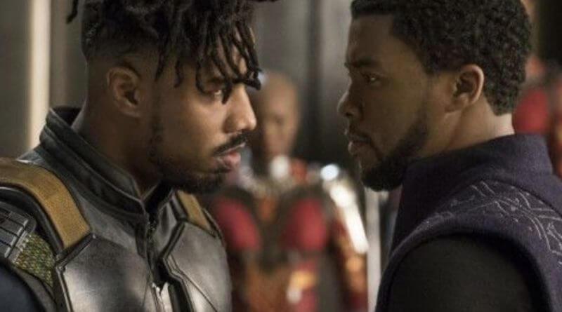 Killmonger and T'Challa Face off