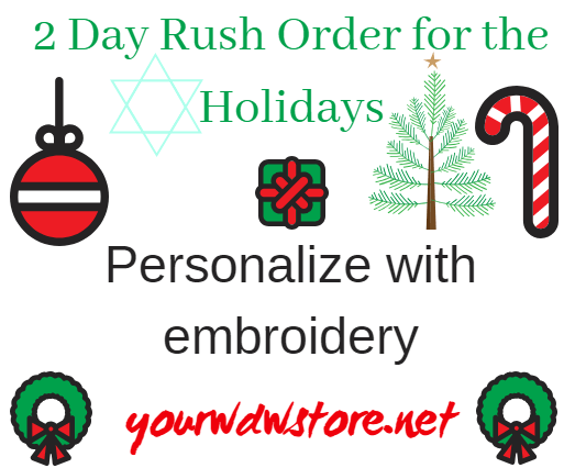 Make Your Disney Gifts More Special with Embroidery and Rush Shipping!