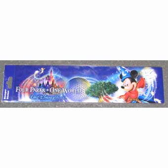 Disney Bumper Sticker - Mickey Mouse & Park Icons