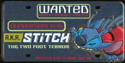 Disney License Plate - Stitch Experiment 626