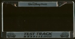 disney license plate frame test track metal. Black Bedroom Furniture Sets. Home Design Ideas