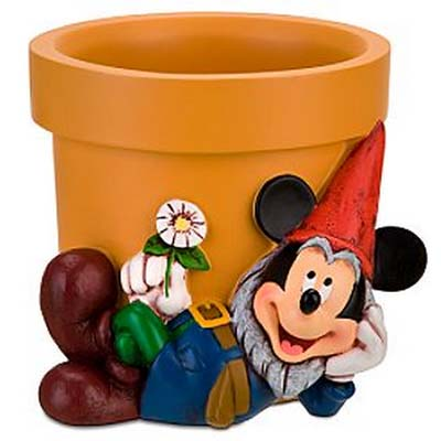 Your WDW Store - Disney Flower Pot - Mickey Mouse Garden Gnome