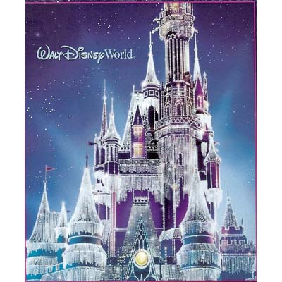 disney throw blanket christmas holiday castle in ice 2008 version
